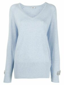 LIU JO long-sleeve fitted jumper - Blue