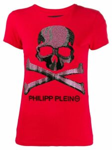 Philipp Plein Skull print T-shirt - Red