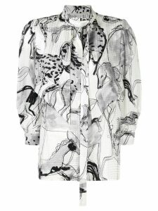 Stella McCartney horse print blouse - Black