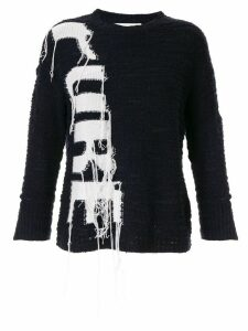 PortsPURE reverse intarsia weave jumper - Black