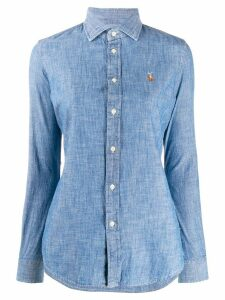 Polo Ralph Lauren logo embroidered shirt - Blue