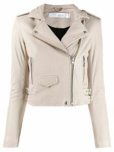 IRO cropped biker jacket - Grey