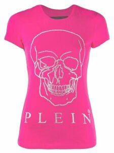 Philipp Plein embellished skull print T-shirt - PINK