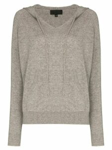 Nili Lotan Albany hooded cashmere jumper - Grey