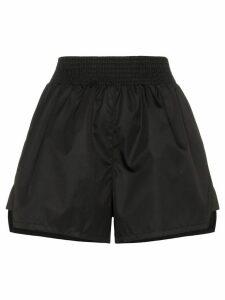 Prada smocked shell shorts - Black