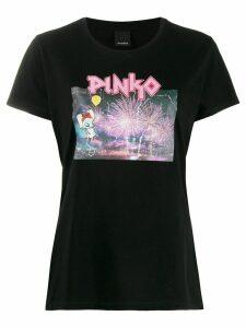 Pinko Savoiardi printed T-shirt - Black
