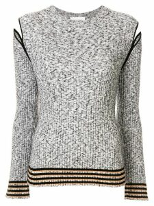 PortsPURE mottled split shoulder jumper - Grey