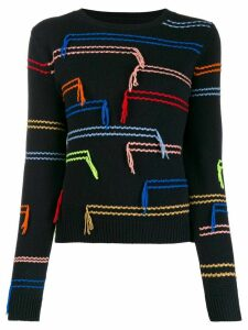 Chinti and Parker stitch embroidered jumper - Blue