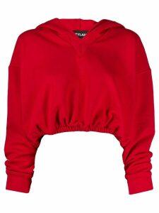 Styland logo printed hoodie - Red