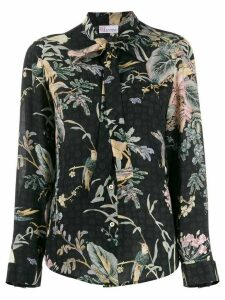 RedValentino floral bird print top - Black