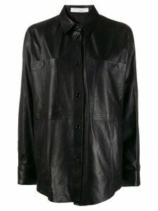 IRO Peters leather shirt - Black