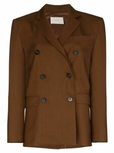 LVIR double-breasted blazer jacket - Brown