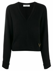 Valentino VGOLD V-neck jumper - Black