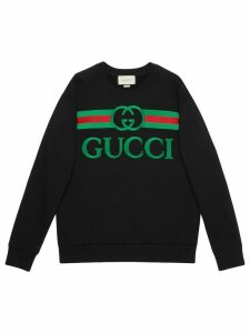 Gucci embroidered logo sweatshirt - Black