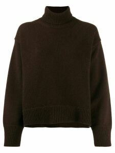 Chinti & Parker cashmere roll-neck knitted jumper - Brown