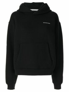 Alexander Wang loose-fit logo hoodie - Black