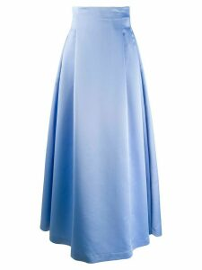 Styland pleated maxi skirt - Blue