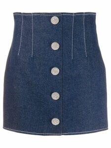 Giuseppe Di Morabito embellished button mini skirt - Blue
