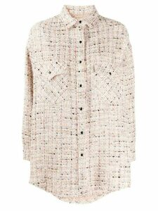 IRO oversized tweed shirt - PINK