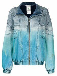 Stella McCartney dip dye denim jacket - Blue