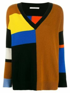 Chinti and Parker colour block jumper - Brown