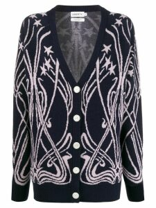 Liberty London Kiki star intarsia cardigan - Blue