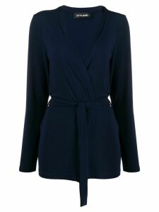 Styland belted lightweight cardigan - Blue