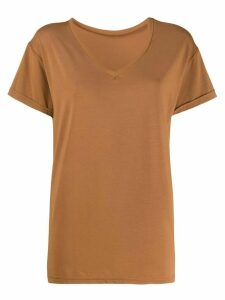 Styland v-neck T-shirt - Brown