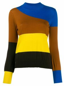Chinti and Parker colour-block striped jumper - Blue