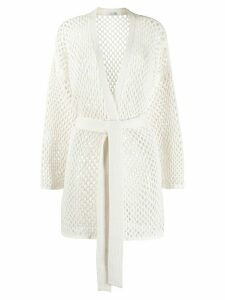Agnona lattice cardigan. - White