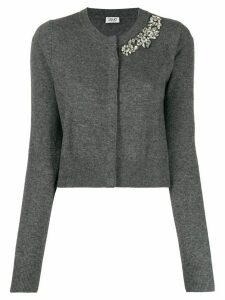 LIU JO crystal-embellished cardigan - Grey