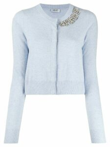 LIU JO crystal-embellished cardigan - Blue