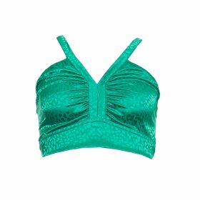 IN. NO - Green Opera Tulle Layered Sweater