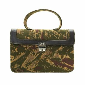 IN. NO - Caramel Metallic Crystal Feather Cuff Jumper
