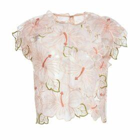 Lirika Matoshi - Hibiscus Organza Floral Top