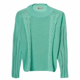 IN. NO - Brittney Tulle Layered Cashmere Blend Coral Hoodie