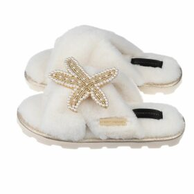 Lobo Mau - Weave Print Sheer Puff-Sleeve Top