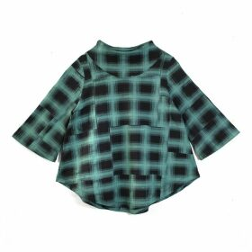 Lobo Mau - Green Plaid Swing Sweatshirt
