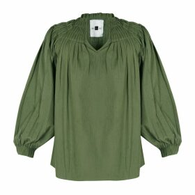Em & Shi - Sage Pleated Top