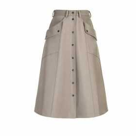 DIANA ARNO - Beate A-Line Skirt In Cool Beige