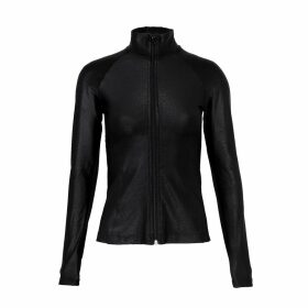 Hayley Menzies - Enchanted Leopard Black Red Long Cardigan