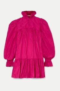 AVAVAV - Ruffled Silk-charmeuse Mini Dress - Fuchsia