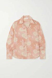Chloé - Floral-print Silk Crepe De Chine Blouse - Pink