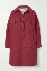 Isabel Marant Étoile - Obira Oversized Herringbone Wool-blend Coat - Red
