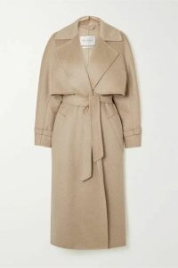 Max Mara - Convertible Belted Camel Hair And Cashmere-blend Coat - Beige