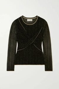 Peter Pilotto - Metallic Twist-front Knit Top - Black