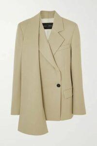 Proenza Schouler - Draped Wool-blend Blazer - Beige