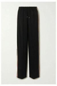 Chloé - Signature Striped Stretch-jersey Track Pants - Black