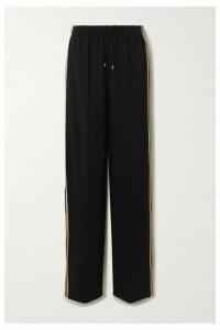 Chloé - Signature Striped Stretch-jersey Track Pants - Black