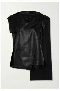 Proenza Schouler - Draped Leather Top - Black
